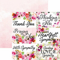 Ella and Viv Paper Company - Sympathy Collection - 12 x 12 Double Sided Paper - Sympathy