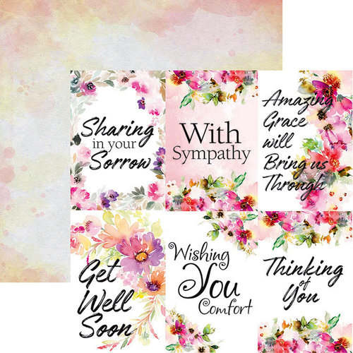 Ella and Viv Paper Company - Sympathy Collection - 12 x 12 Double Sided Paper - Love