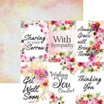 Ella and Viv Paper Company - Sympathy Collection - 12 x 12 Paper - Love