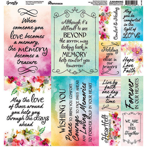 Ella and Viv Paper Company - Sympathy Collection - 12 x 12 Cardstock Stickers - Poster