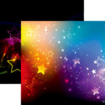 Ella and Viv Paper Company - Neon Nights Collection - 12 x 12 Double Sided Paper - Glowing Stars