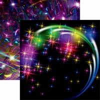 Ella and Viv Paper Company - Neon Nights Collection - 12 x 12 Double Sided Paper - Glow Party