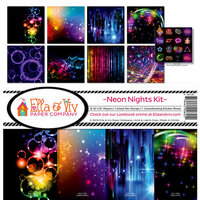 Ella and Viv Paper Company - Neon Nights Collection - 12 x 12 Collection Kit