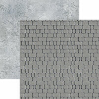 Ella and Viv Paper Company - Urban Excursion Collection - 12 x 12 Double Sided Paper - Flagstone