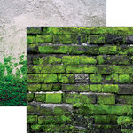 Ella and Viv Paper Company - Urban Excursion Collection - 12 x 12 Double Sided Paper - Moss Wall