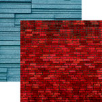 Ella and Viv Paper Company - Urban Excursion Collection - 12 x 12 Double Sided Paper - Crimson Brick