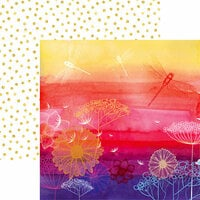 Ella and Viv Paper Company - Dragonfly Collection - 12 x 12 Double Sided Paper - Choose Happiness