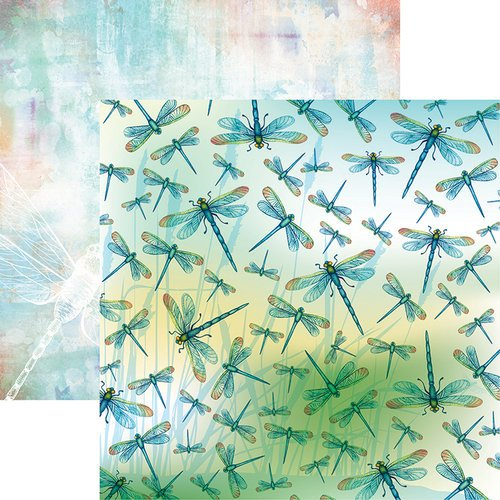 Ella and Viv Paper Company - Dragonfly Collection - 12 x 12 Double Sided Paper - Simply Amazing