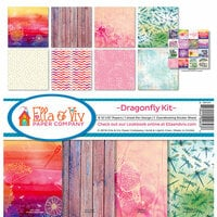 Ella and Viv Paper Company - Dragonfly Collection - 12 x 12 Collection Kit