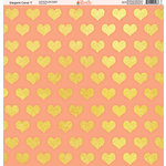 Ella and Viv Paper Company - Elegant Coral Collection - 12 x 12 Paper - Seven