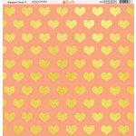 Ella and Viv Paper Company - Elegant Coral Collection - 12 x 12 Paper - Seven