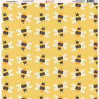 Ella and Viv Paper Company - Honey Bee Collection - 12 x 12 Paper - One