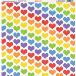 Ella and Viv Paper Company - Rainbow Connection Collection - 12 x 12 Paper - Five
