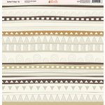 Ella and Viv Paper Company - Safari Tribal Collection - 12 x 12 Paper - Twelve