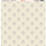 Ella and Viv Paper Company - Slate Blue Damask Collection - 12 x 12 Paper - One