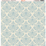 Ella and Viv Paper Company - Slate Blue Damask Collection - 12 x 12 Paper - Six