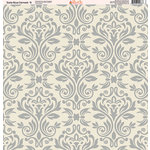 Ella and Viv Paper Company - Slate Blue Damask Collection - 12 x 12 Paper - Nine
