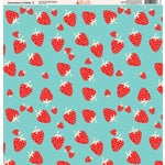 Ella and Viv Paper Company - Strawberry Fields Collection - 12 x 12 Paper - Five