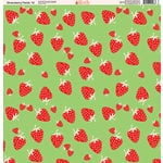 Ella and Viv Paper Company - Strawberry Fields Collection - 12 x 12 Paper - Ten