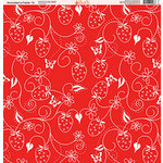 Ella and Viv Paper Company - Strawberry Fields Collection - 12 x 12 Paper - Twelve