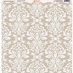 Ella and Viv Paper Company - Sunshine Damask Collection - 12 x 12 Paper - One