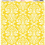 Ella and Viv Paper Company - Sunshine Damask Collection - 12 x 12 Paper - Four