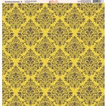 Ella and Viv Paper Company - Sunshine Damask Collection - 12 x 12 Paper - Nine