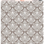 Ella and Viv Paper Company - Sunshine Damask Collection - 12 x 12 Paper - Twelve