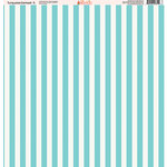 Ella and Viv Paper Company - Turquoise Damask Collection - 12 x 12 Paper - Five