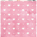 Ella and Viv Paper Company - Watercolor Kisses Collection - 12 x 12 Paper - One