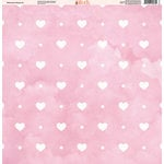 Ella and Viv Paper Company - Watercolor Kisses Collection - 12 x 12 Paper - Six