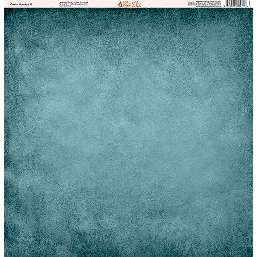 Ella and Viv Paper Company - Ocean Wonders Collection - 12 x 12 Paper - Three