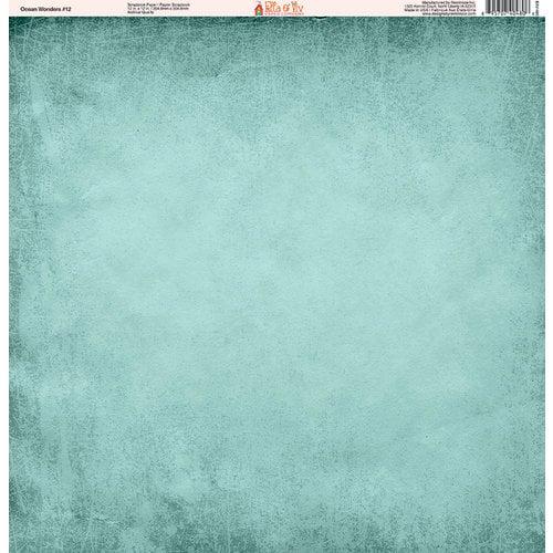 Ella and Viv Paper Company - Ocean Wonders Collection - 12 x 12 Paper - Twelve