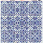 Ella and Viv Paper Company - Deep Blue Mosaic Collection - 12 x 12 Paper - One