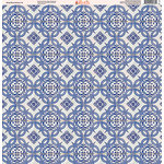 Ella and Viv Paper Company - Deep Blue Mosaic Collection - 12 x 12 Paper - Two