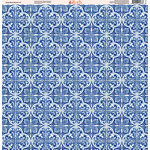 Ella and Viv Paper Company - Deep Blue Mosaic Collection - 12 x 12 Paper - Three