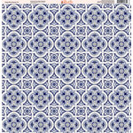 Ella and Viv Paper Company - Deep Blue Mosaic Collection - 12 x 12 Paper - Five