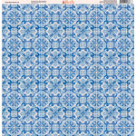 Ella and Viv Paper Company - Deep Blue Mosaic Collection - 12 x 12 Paper - Six