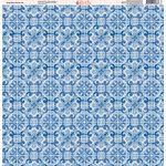 Ella and Viv Paper Company - Deep Blue Mosaic Collection - 12 x 12 Paper - Six