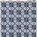 Ella and Viv Paper Company - Deep Blue Mosaic Collection - 12 x 12 Paper - Nine