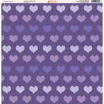 Ella and Viv Paper Company - Purple Passion Collection - 12 x 12 Paper - Three