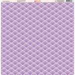 Ella and Viv Paper Company - Purple Passion Collection - 12 x 12 Paper - Six