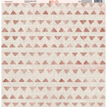 Ella and Viv Paper Company - Aztec Linen Collection - 12 x 12 Paper - Three