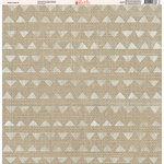 Ella and Viv Paper Company - Aztec Linen Collection - 12 x 12 Paper - Seven