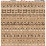 Ella and Viv Paper Company - Aztec Linen Collection - 12 x 12 Paper - Nine