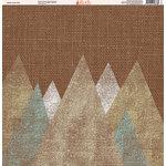 Ella and Viv Paper Company - Aztec Linen Collection - 12 x 12 Paper - Twelve