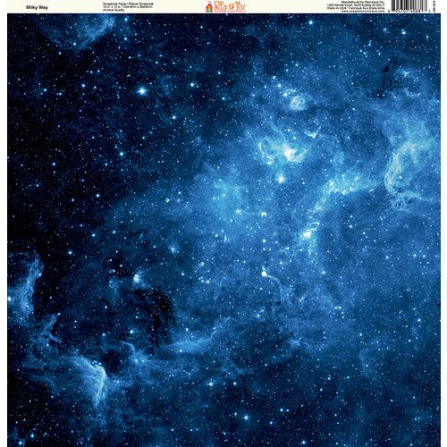 Ella and Viv Paper Company - Galaxy Collection - 12 x 12 Paper - Milky Way