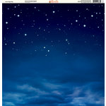 Ella and Viv Paper Company - Galaxy Collection - 12 x 12 Paper - Calm Night Sky