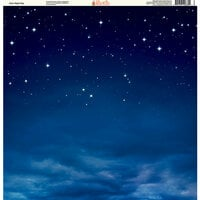 Ella and Viv Paper Company - Galaxy Collection - 12 x 12 Paper - Calm Night Sky
