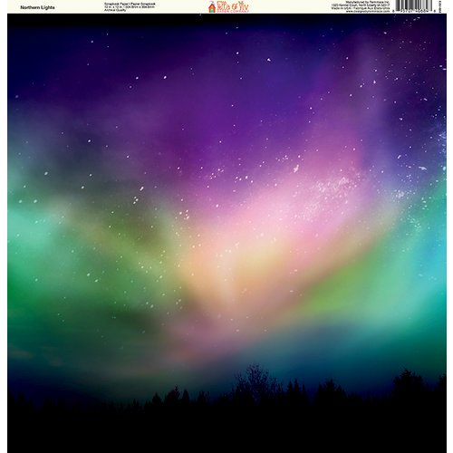 Ella and Viv Paper Company - Galaxy Collection - 12 x 12 Paper - Northern Lights